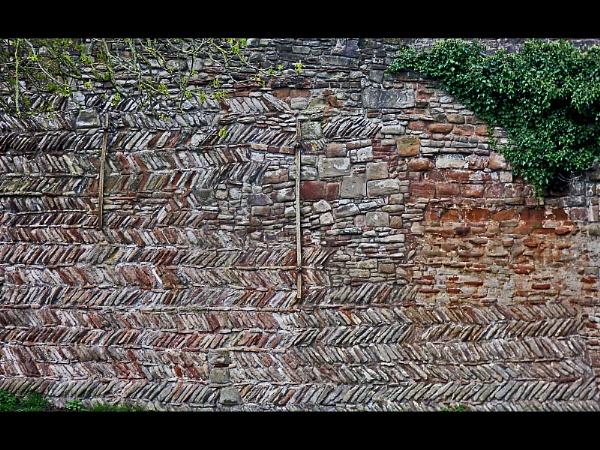 Herring Bone Wall - Tamworth Castle