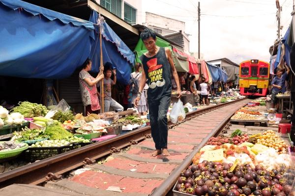 Maeklong Railway market, Thailand by jimpower4u