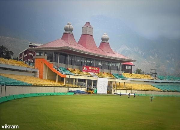 Dharmshala Cricket Stadium [India] by Bantu