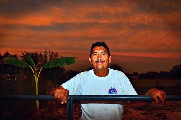Bro. Juan de Dios and his banana tree by PetesPix