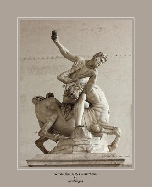 Statues in The Piazza Della Signoria, Florence, Italy by canoncarol