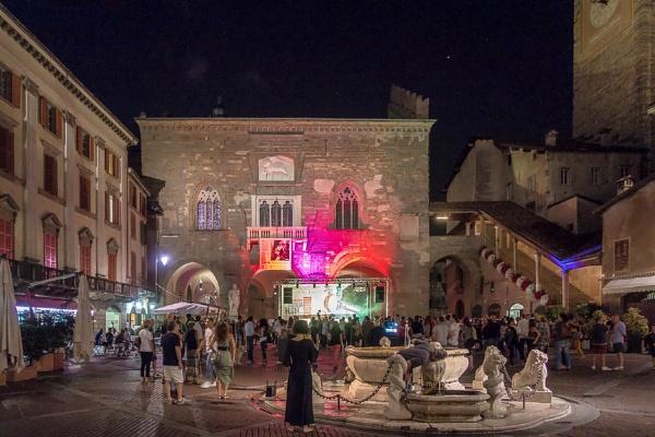 Music Festival in Piazza Vecchia in Bergamo by Phil_Bird