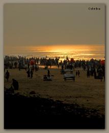 Golden Sea-Digha Beach,West Bengal.