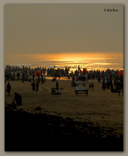 Golden Sea-Digha Beach,West Bengal.