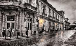 A wet street Cuba