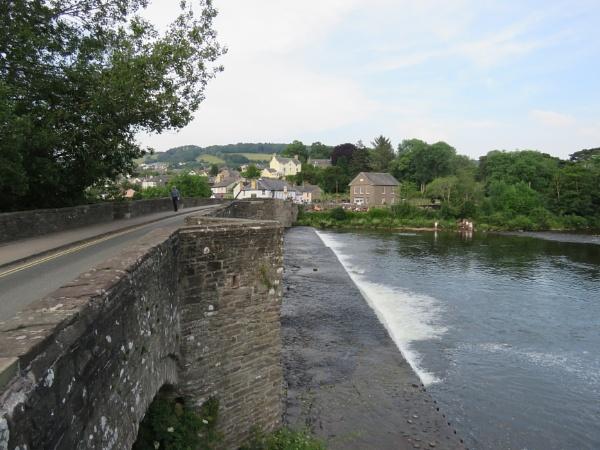 River USK at Crickhowell, Wales