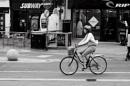 Cycling through town