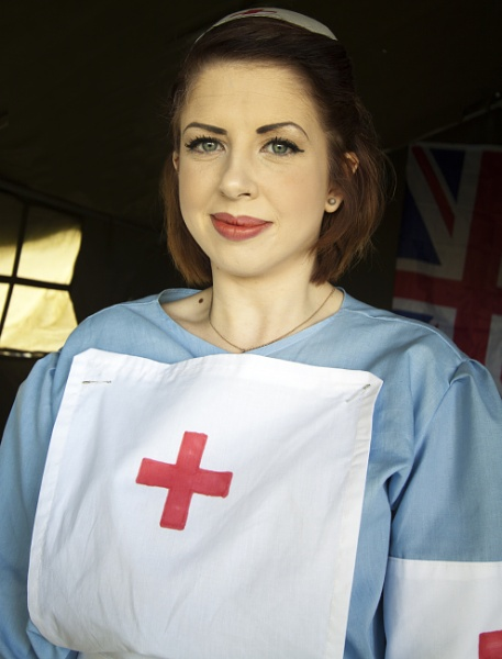 Red Cross Pin Up Girl by aitchbrown