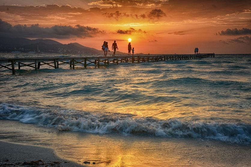 Sunrise,Playa De Muro,Majorca.