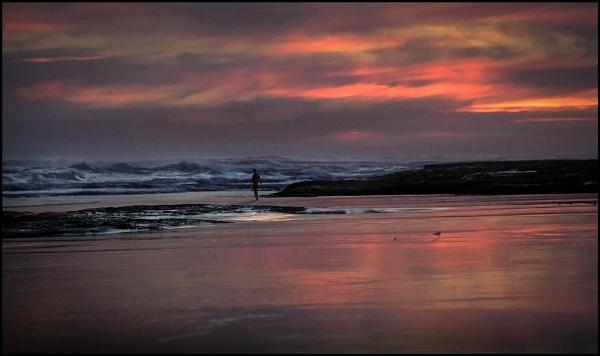 Lone walker by Prizm