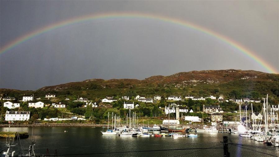 Rainbow Over Tarbert.