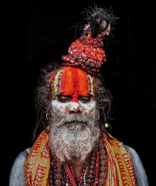 Meditating Sadhu by sawsengee