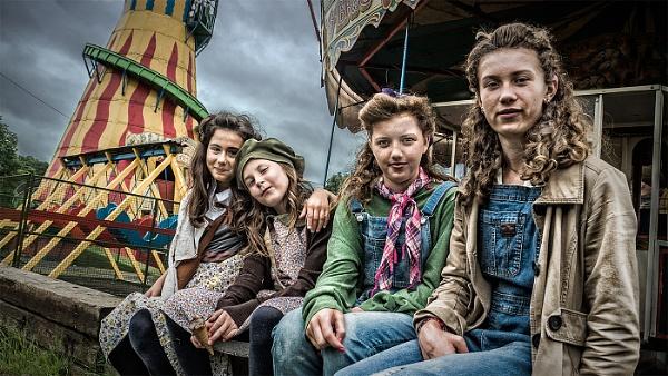 Four Girls at the Fair by Dixxipix