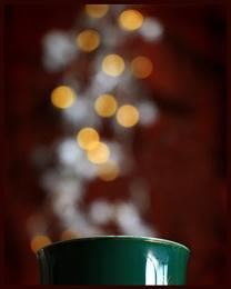 Steaming Mug of Bokeh Coffee