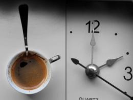 A clock...