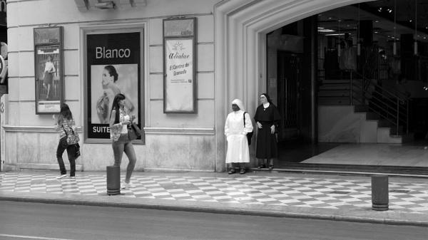 2 Nuns People Watching, Granada, Spain by tonycullen