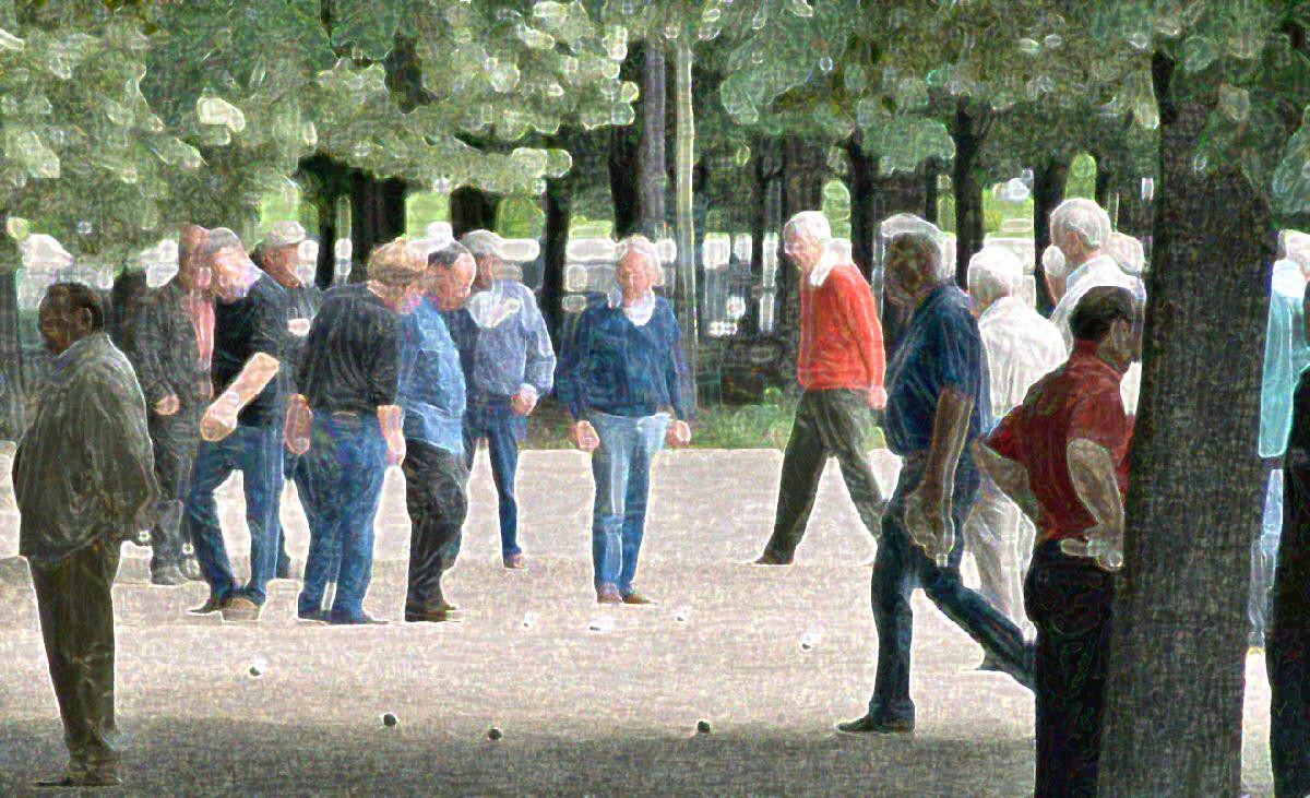 Les Hommes Jouent Aux Boules - Men Playing Boule