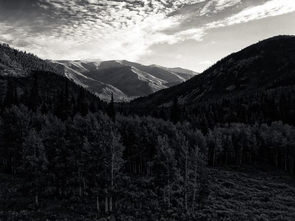 Mountain in shadow by mlseawell