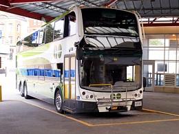 Double Decker Government of Ontario Bus at James Street Hamilton Bus Station