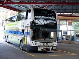 Double Decker Government of Ontario Bus at James Street Hamilton Bus Station 02