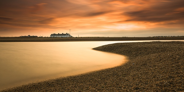 Sunset at Shingle Street by jonkennard