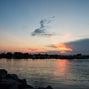 Sunset at Point Judith Harbor by taggart
