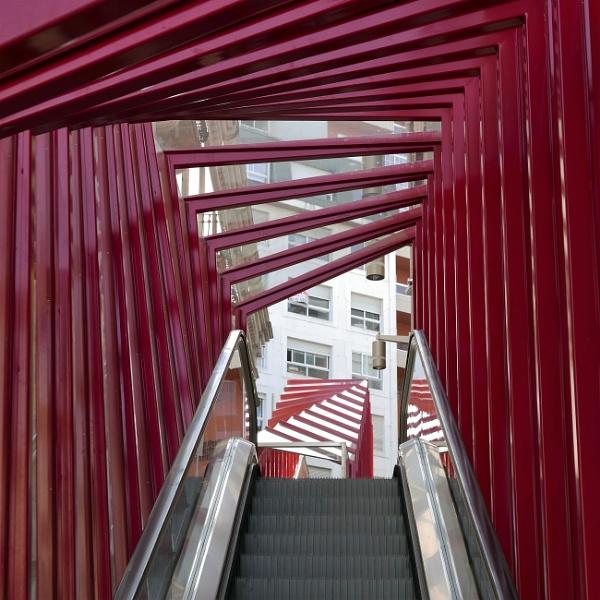 Street escalator, Vigo (looking up) by tonycullen