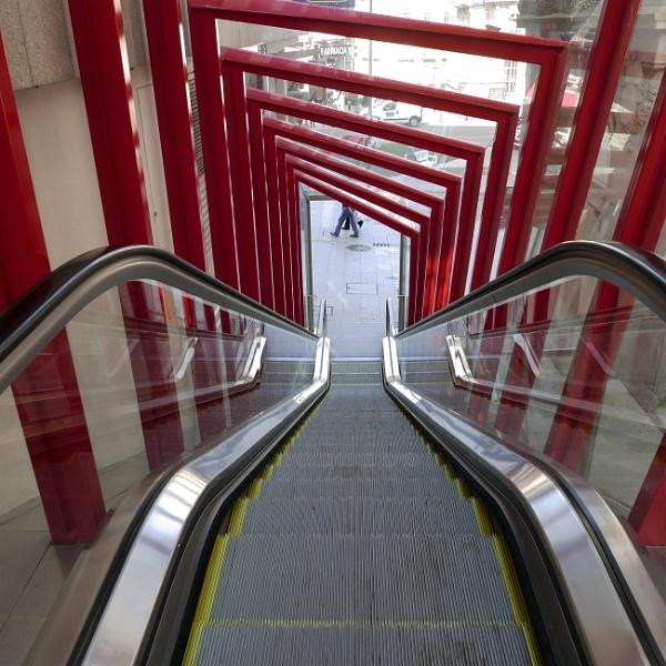 Street escalator, Vigo (looking down) by tonycullen