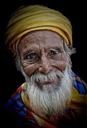 Old hindu pilgrim