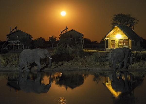 Elephant Sands Moonrise by hwatt