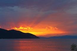 Sunset on Thassos, Greece.
