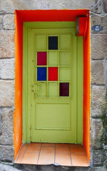 Orange doorway, Vigo, Galicia by tonycullen