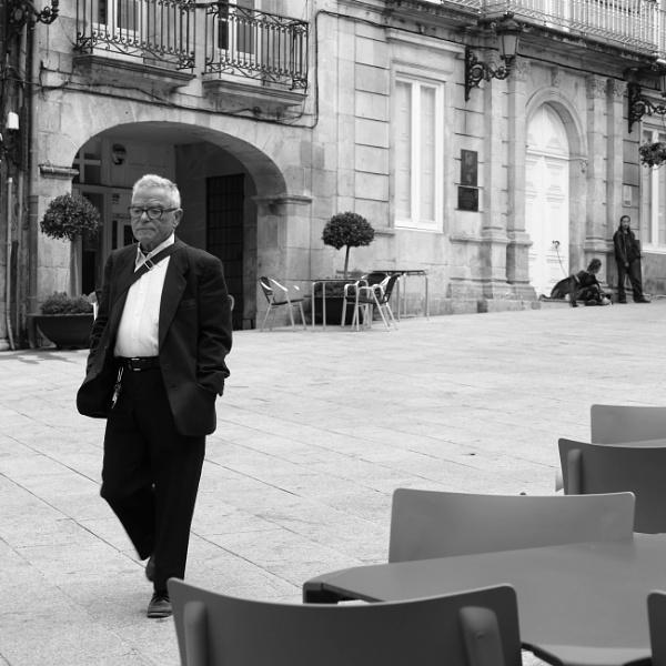 Old Man and Beggars, Praza da Constitución, Vigo, Galicia by tonycullen