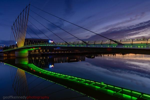 Lowry Bridge in Green by geffers7