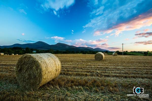 Irish Countryside Sunset by cozzie