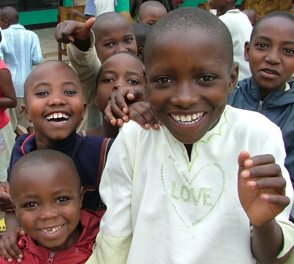 Happy youngsters in Rwanda by JuBarney