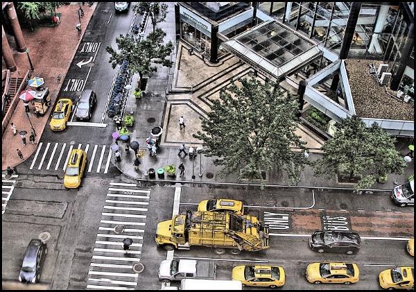 Rainy Street Corner by DonSchaeffer