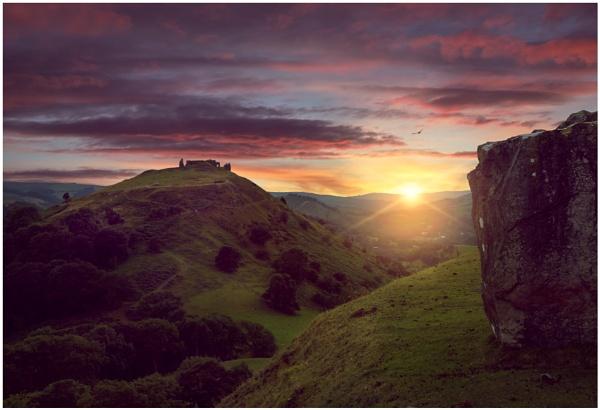 Llangollen Sunset. by Satlight