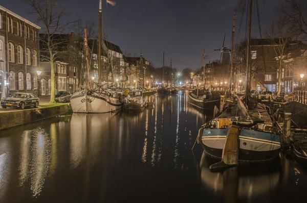 Schiedam at Night by joop_