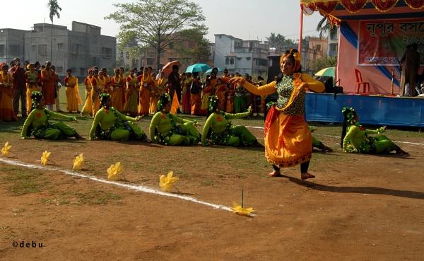 Holi dance celebration by debu