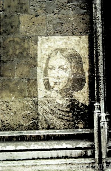 Joan of Arc on a Wall by Hamlin