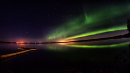 Northern Lights at the lake.