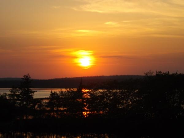 Sundown in the Bay by Myshele