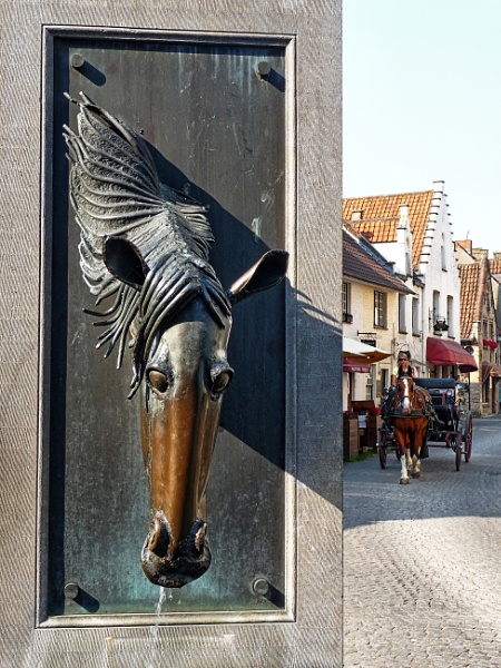 Bruges fountain by brusque