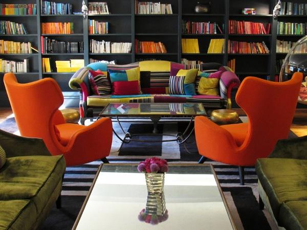 Orange chairs by oldgreyheron