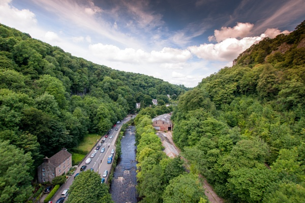 Aerial view of matlock Bath by nikonphotographer