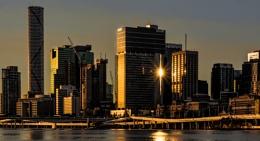 Reflected Sunset, Brisbane
