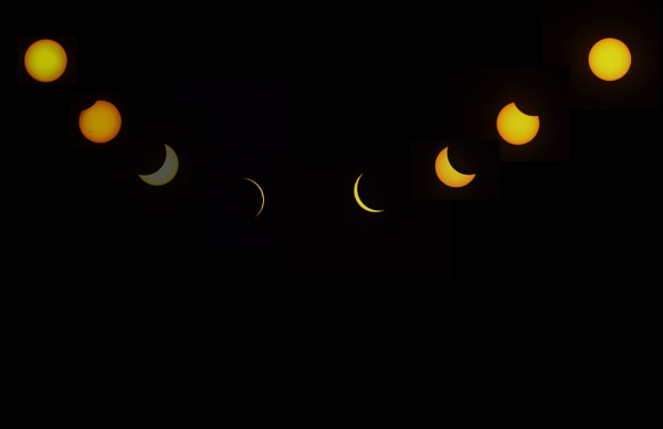 Eclipse Cycle from Charlotte N.C.  My contribution to the billions of pictures taken. by GGAB