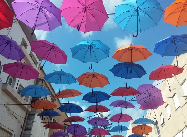 Umbrellas from above by SHR