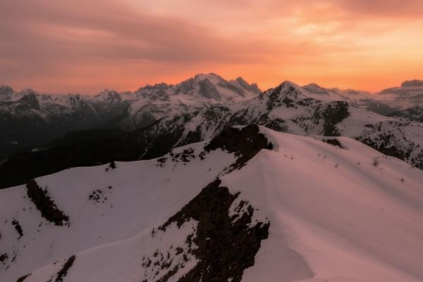 Sunset on Marmolada